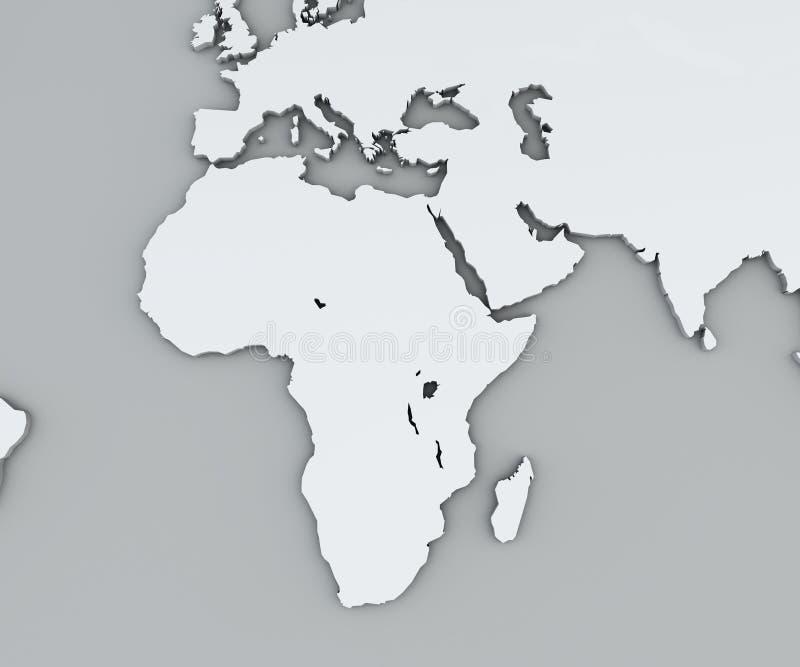 Cartina Geografica Dell Africa Fisica.Mappa Dell Africa Mappa Geografica Bianca Fisica Cartografia Atlante Geografico Illustrazione Di Stock Illustrazione Di Cartografia Egitto 115815067