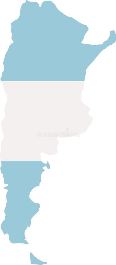Mappa dell'Argentina con la bandiera illustrazione vettoriale