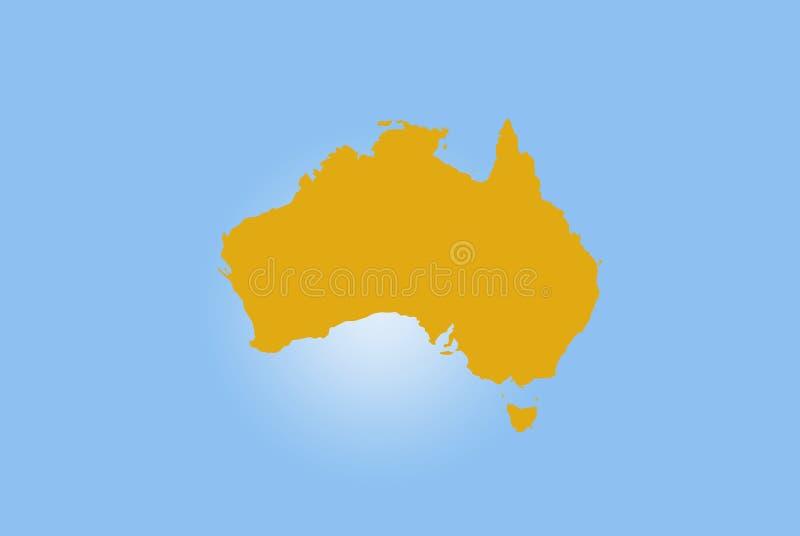Mappa dell'Australia fotografie stock libere da diritti