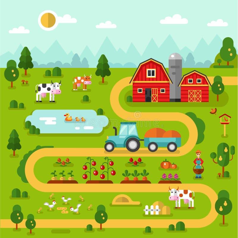 Mappa dell'azienda agricola fotografia stock