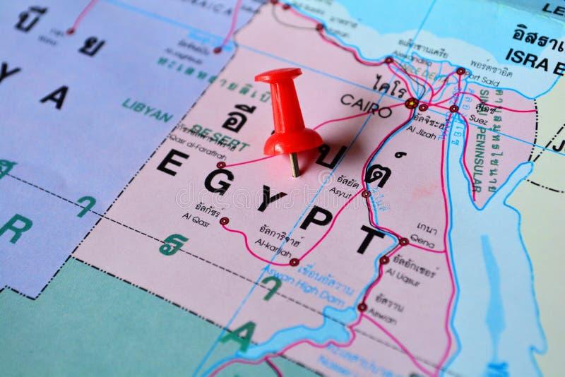 Mappa dell'Egitto fotografia stock