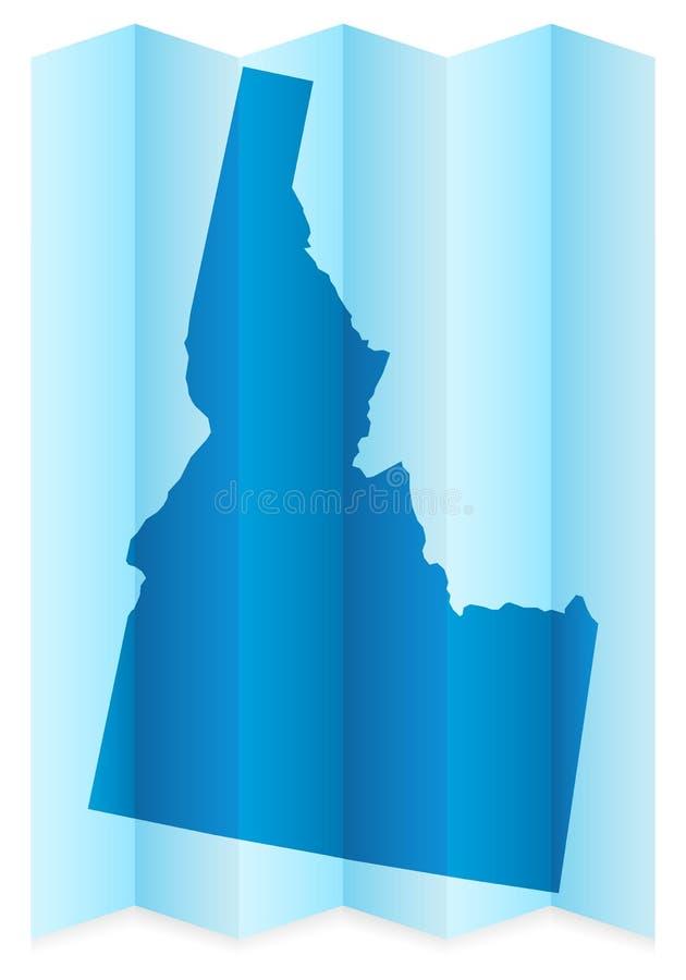 Mappa dell'Idaho illustrazione vettoriale
