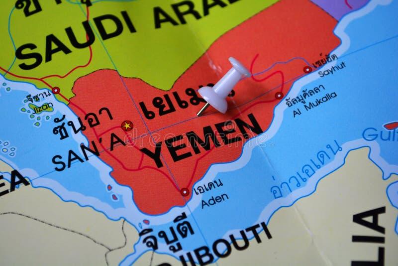 Mappa dell'Yemen fotografia stock libera da diritti