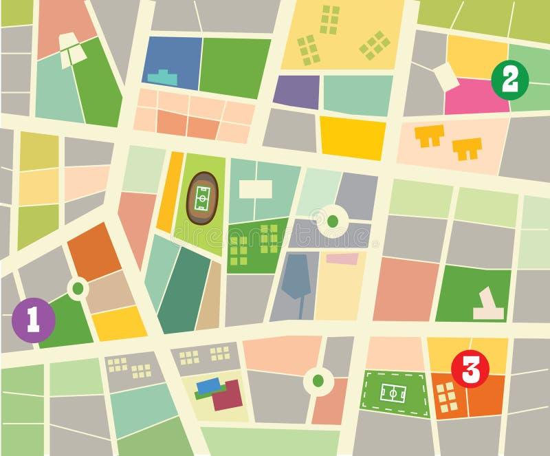 Mappa della citt illustrazione vettoriale illustrazione for Programma della mappa della casa