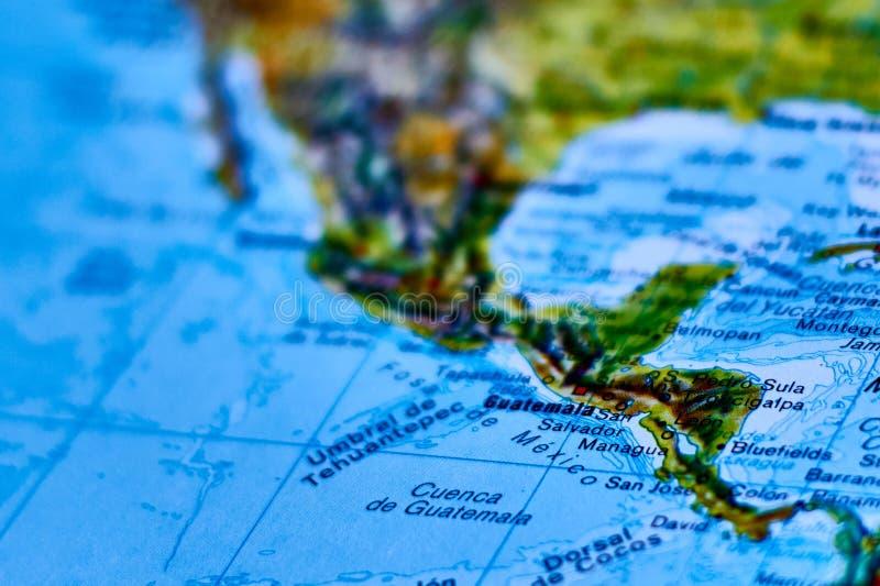 Mappa della città del Guatemala fotografie stock libere da diritti