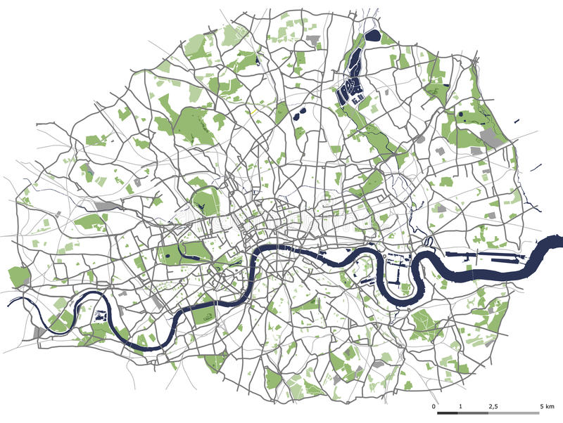 Cartina Stradale Londra.Mappa Della Citta Di Londra Gran Bretagna Illustrazione Di Stock Illustrazione Di Illustrazione Centro 91132320