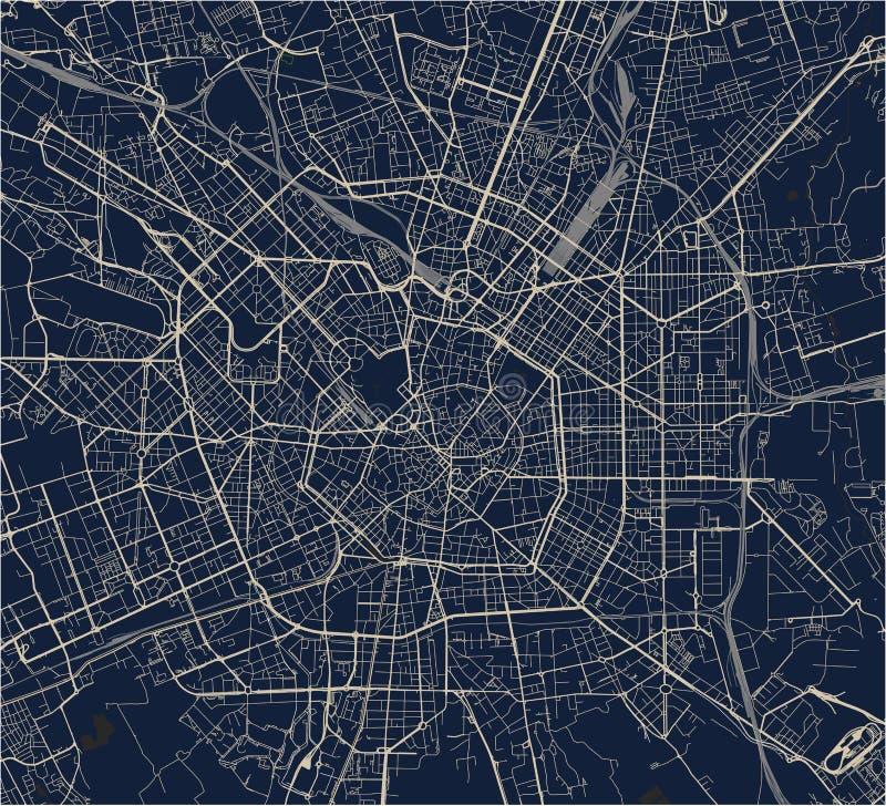 Cartina Dettagliata Lombardia.Mappa Della Citta Di Milano Capitale Della Lombardia Italia Illustrazione Vettoriale Illustrazione Di Quadrato Grafico 113173743
