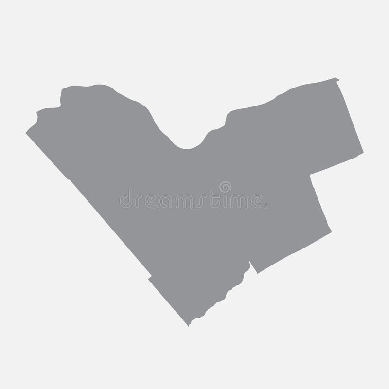Mappa della città di Ottawa nel gray su un fondo bianco illustrazione vettoriale