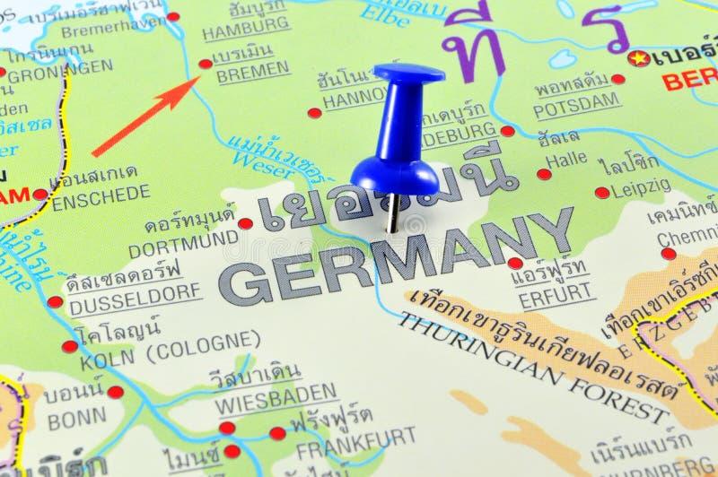 Mappa della Germania fotografia stock libera da diritti