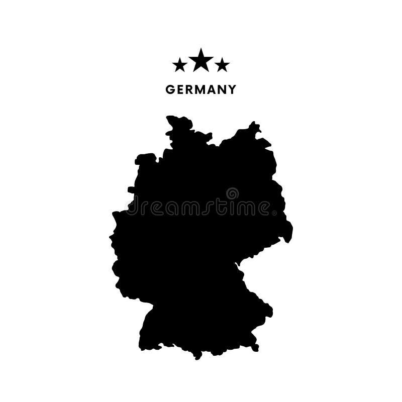 Mappa della Germania Illustrazione di vettore royalty illustrazione gratis