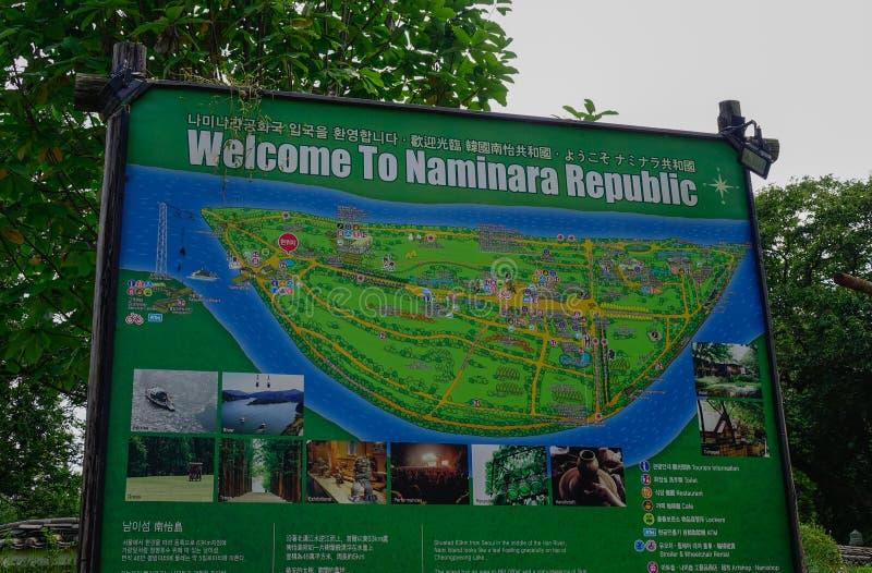 Mappa della guida della Repubblica di Naminara fotografia stock libera da diritti
