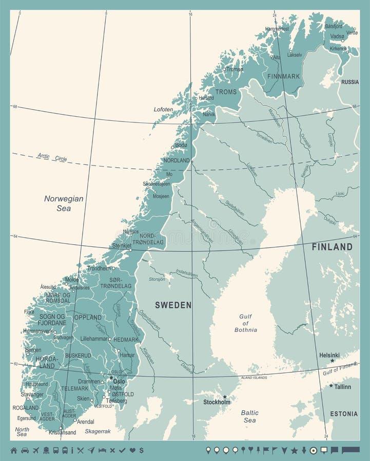 Cartina Della Norvegia Da Stampare.Mappa Di Fisico Medica Della Norvegia Illustrazione Vettoriale Illustrazione Di Norvegese North 100452511