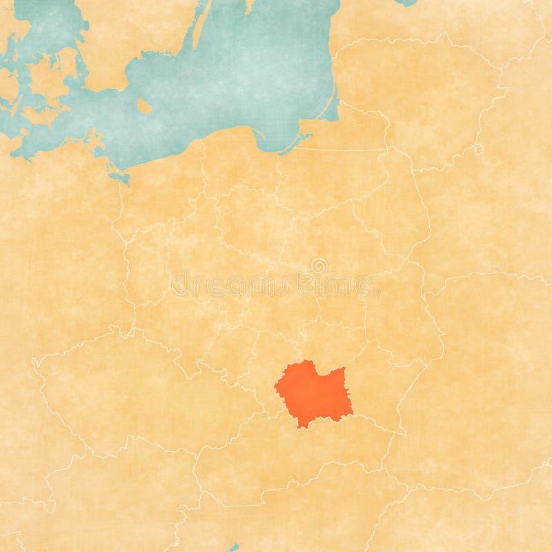 Mappa della Polonia - Lesser Poland illustrazione vettoriale