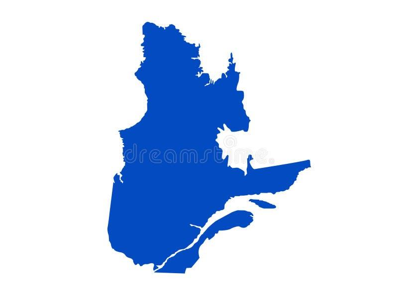 Mappa della Quebec - la più grandi provincia e territorio del Canada illustrazione di stock