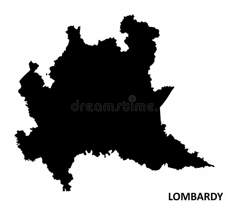 La Cartina Fisica Della Lombardia.Mappa Della Regione Di Lombardia Illustrazione Vettoriale Illustrazione Di Zona Italia 184225234