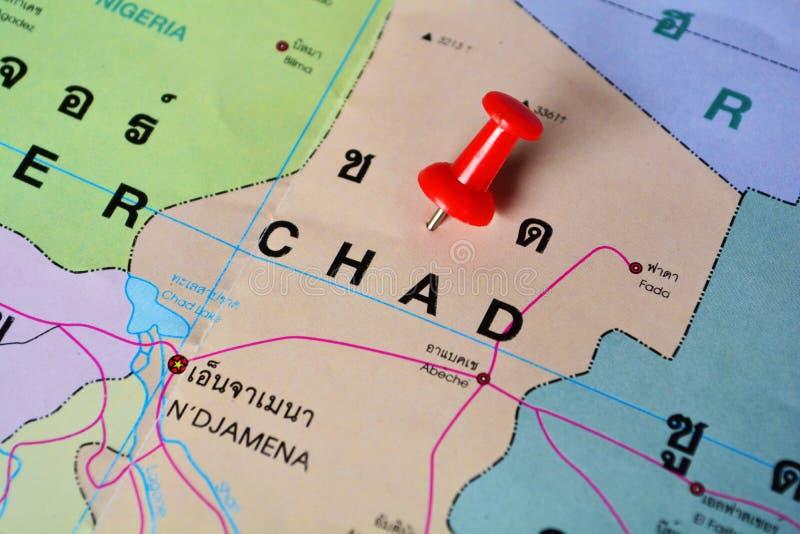 Mappa della Repubblica del Chad immagini stock
