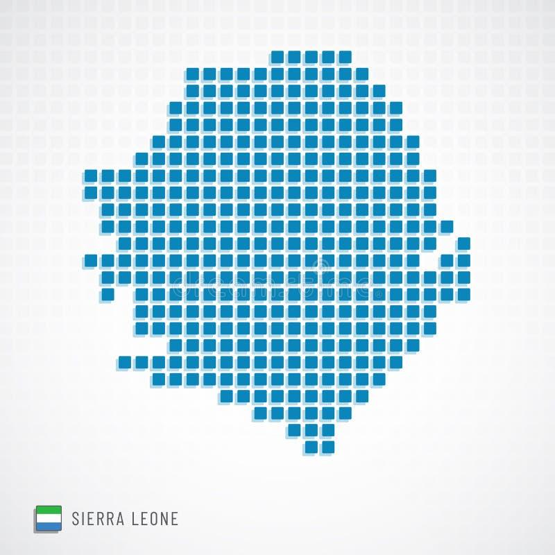 Mappa della Sierra Leone ed icona della bandiera royalty illustrazione gratis