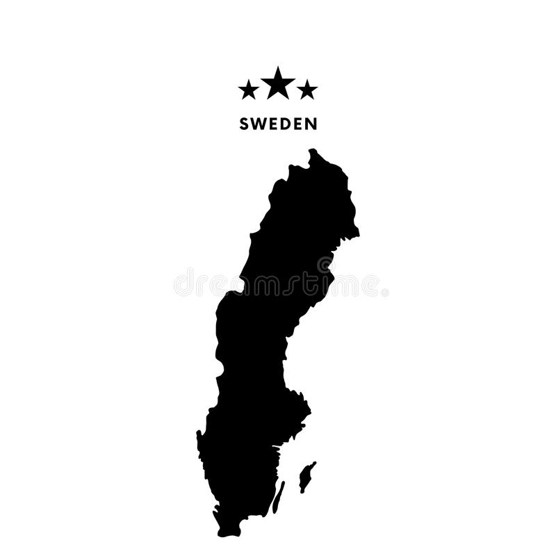 Mappa della Svezia Illustrazione di vettore illustrazione di stock