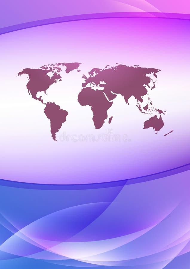 Mappa della terra su un modello trasparente illustrazione vettoriale