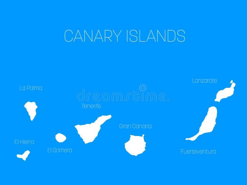 Spagna E Canarie Cartina.Mappa Delle Isole Canarie Spagna Con Le Etichette Di Ogni Isola El Hierro La Palma La Gomera Tenerife Gran Canaria Illustrazione Vettoriale Illustrazione Di Graffetta Spruzzo 90787161