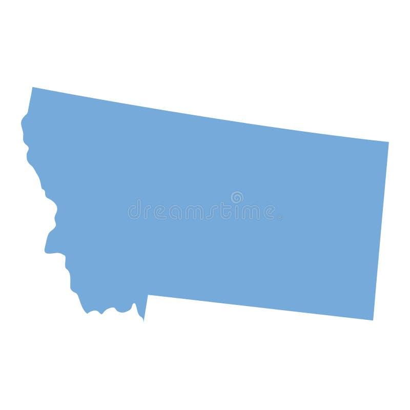 Mappa dello stato del Montana royalty illustrazione gratis