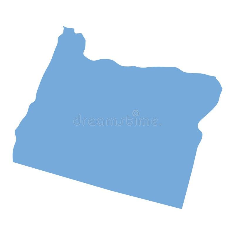 Mappa dello stato dell'Oregon royalty illustrazione gratis
