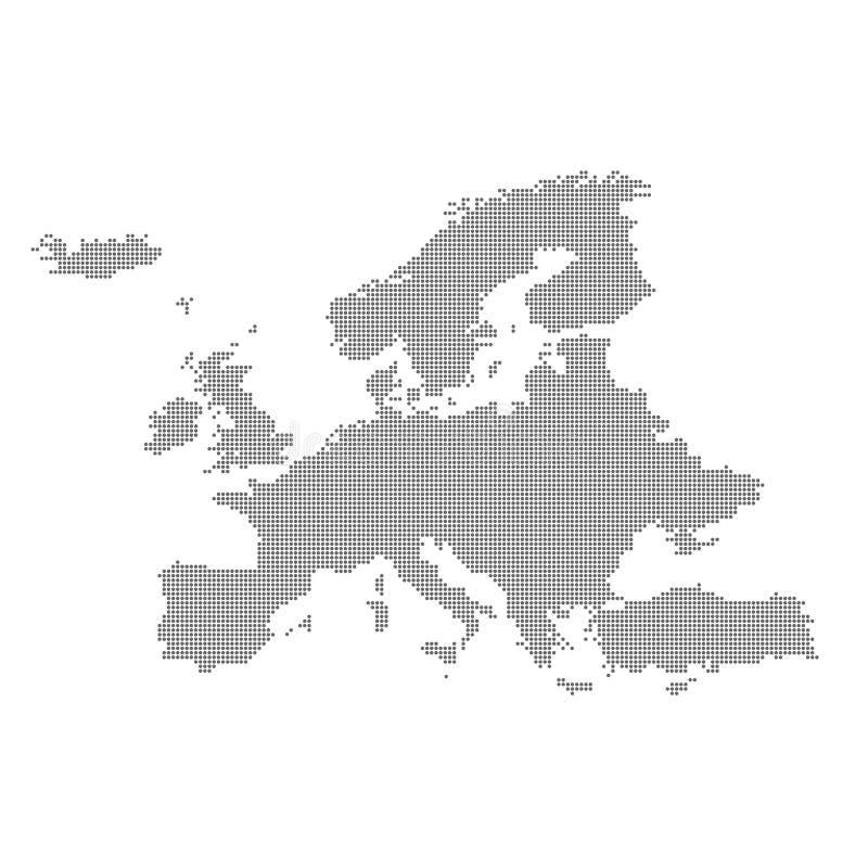 Mappa dettagliata di Europa nel punto Illustrazione di vettore royalty illustrazione gratis
