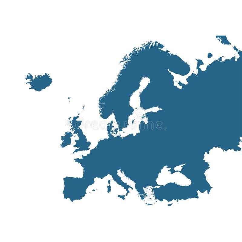 Mappa dettagliata di vettore di Europa royalty illustrazione gratis