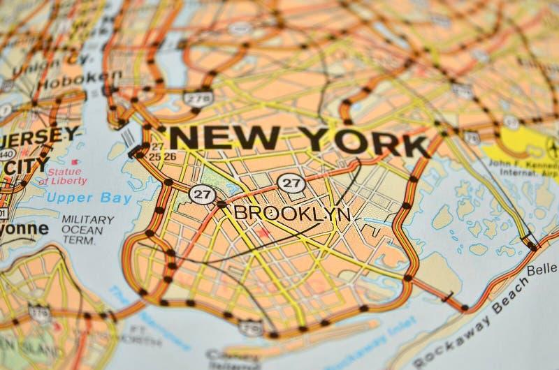 Mappa di Brooklyn immagini stock libere da diritti