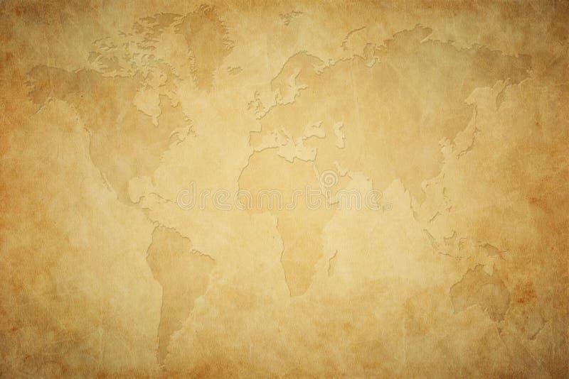 Mappa di Brown dei precedenti del mondo fotografia stock libera da diritti
