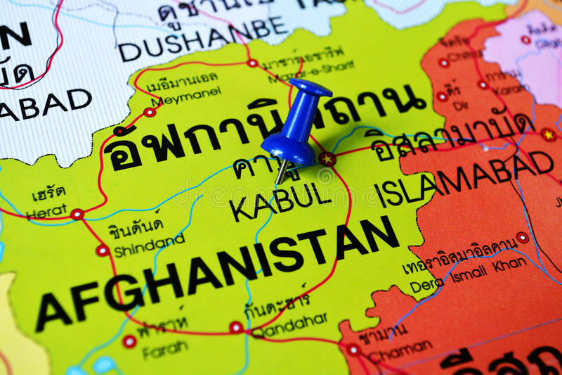 mappa di Cabul Afghanistan immagine stock