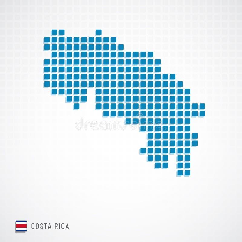 Mappa di Costa Rica ed icona della bandiera royalty illustrazione gratis