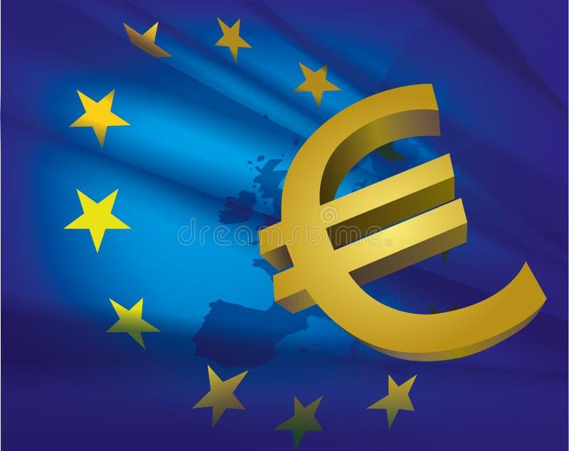 Bandiera di unione europea royalty illustrazione gratis