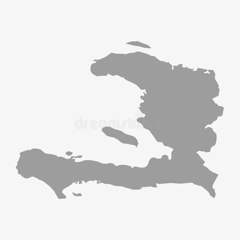 Mappa di Haiti nel gray su un fondo bianco royalty illustrazione gratis