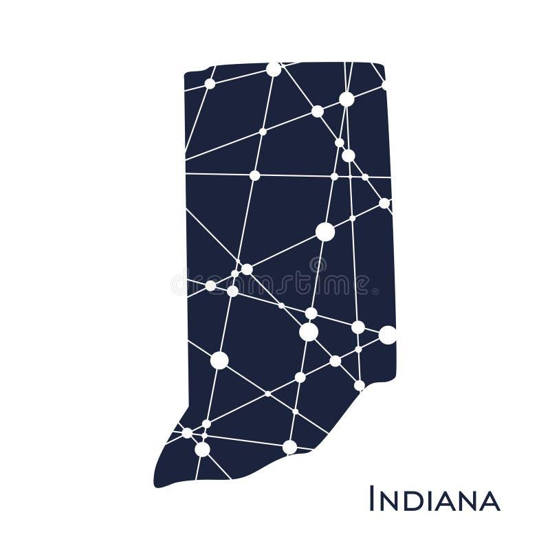Mappa di Indiana State illustrazione di stock