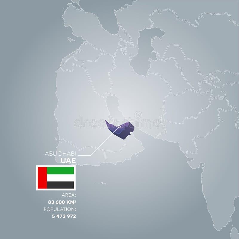 Mappa di informazioni dei UAE royalty illustrazione gratis