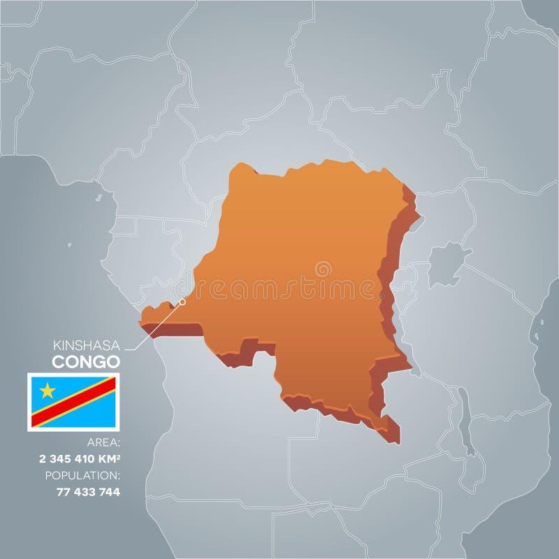 Mappa di informazioni del Congo illustrazione vettoriale