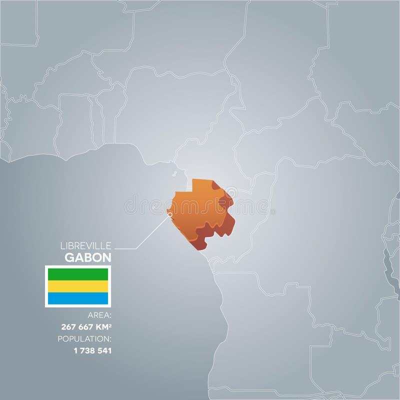 Mappa di informazioni del Gabon royalty illustrazione gratis