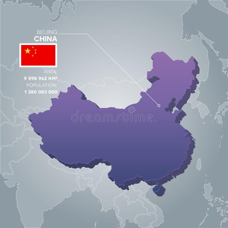 Mappa di informazioni della Cina royalty illustrazione gratis