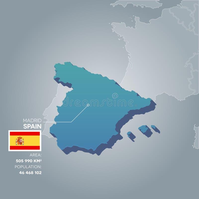 Mappa di informazioni della Spagna royalty illustrazione gratis