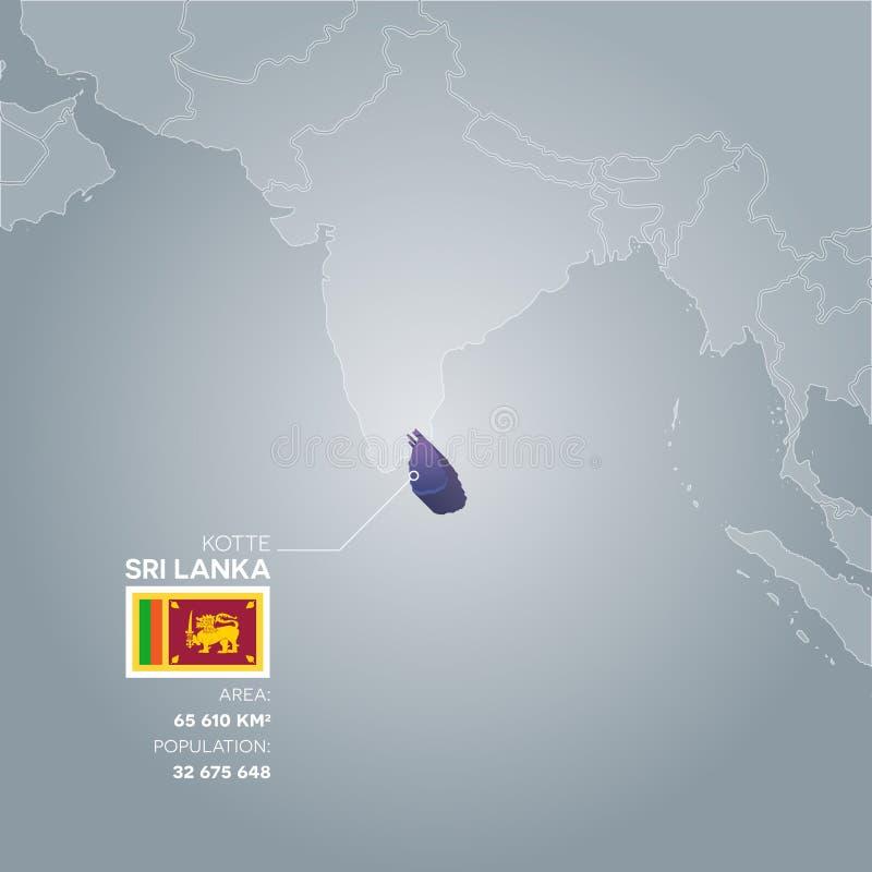 Mappa di informazioni dello Sri Lanka illustrazione di stock