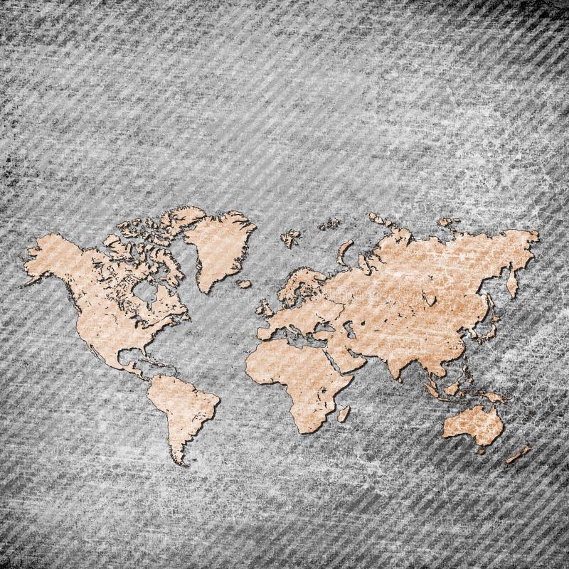 Mappa di lerciume del mondo royalty illustrazione gratis