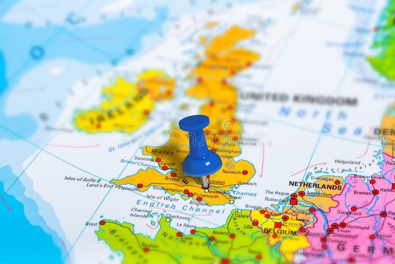 Mappa di Londra Regno Unito fotografie stock