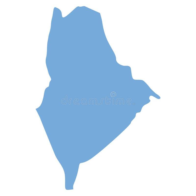 Mappa di Maine State illustrazione vettoriale
