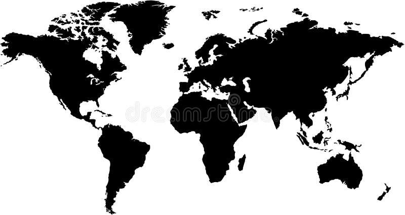 mappa di mondo illustrazione di stock
