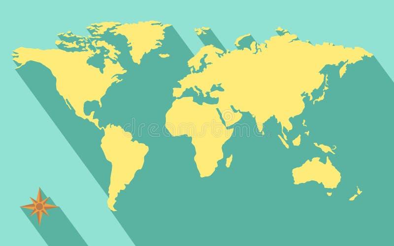 Mappa di mondo royalty illustrazione gratis