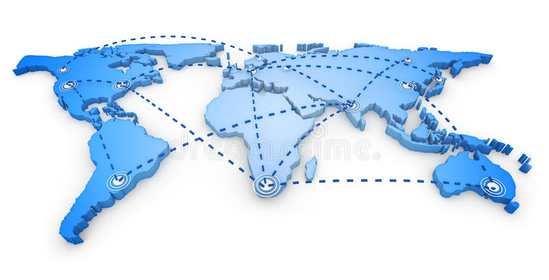 mappa di mondo 3d royalty illustrazione gratis