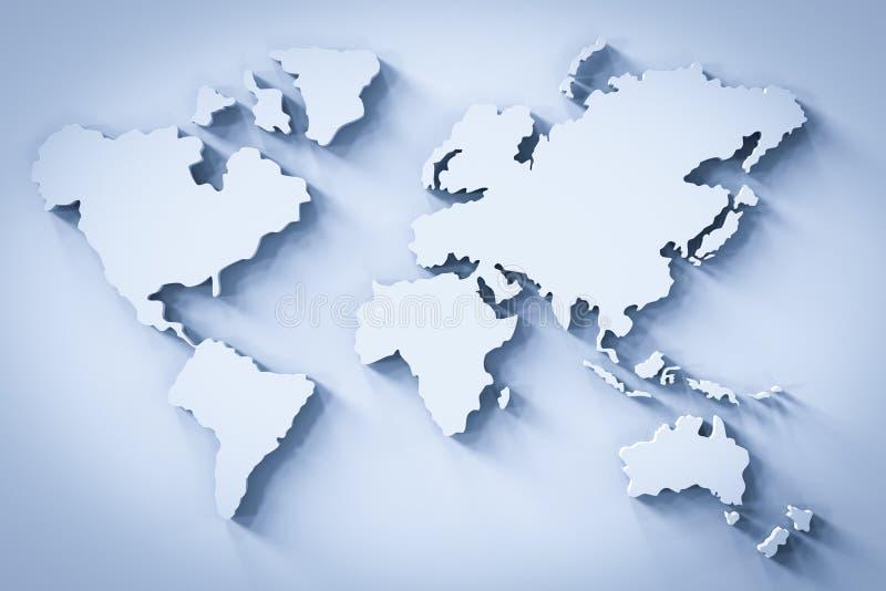 Mappa di mondo bianca illustrazione vettoriale