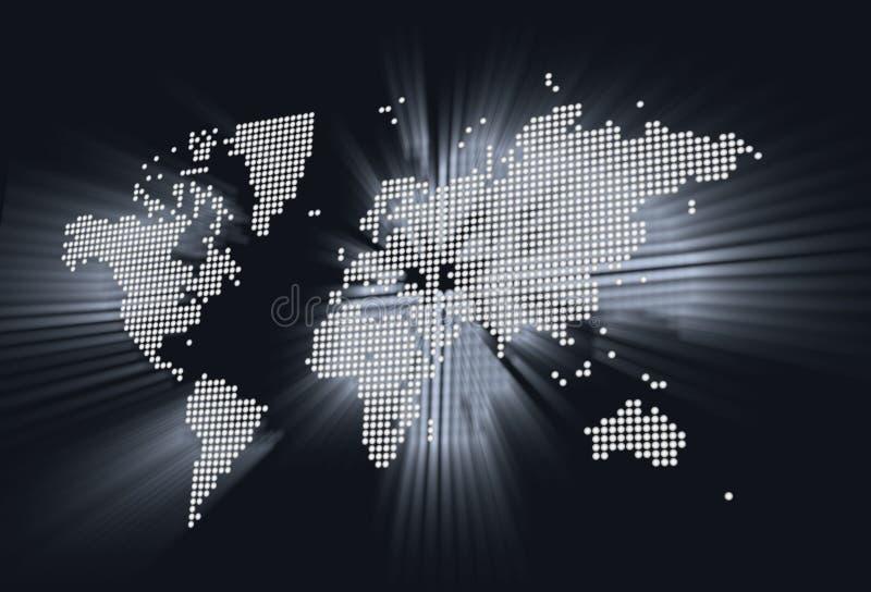 Mappa di mondo brillante fotografia stock libera da diritti