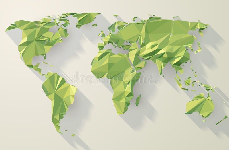 Mappa di mondo poligonale di vettore illustrazione vettoriale